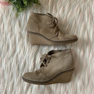 J. Crew MacAlister Suede Wedge Lace Up Bootie